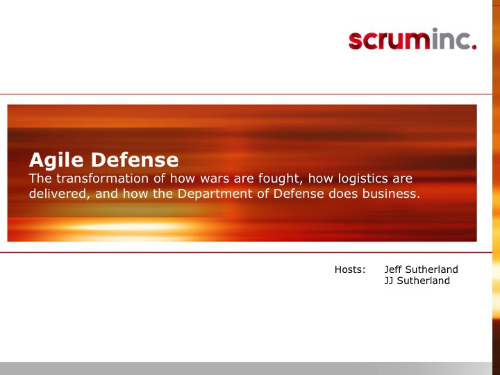 Agile Defense Slide 1